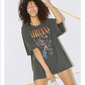 Vintage Nirvana Unplugged T-Shirt Dress